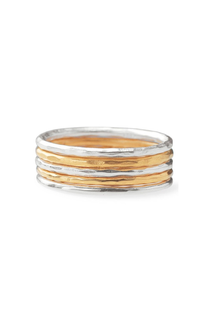 Stackable Band Rings- Set of 5