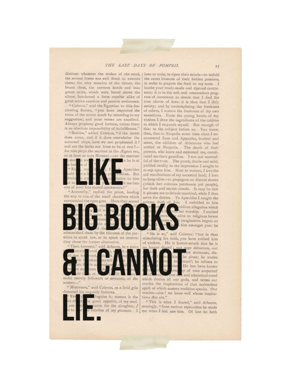 Baby got book?: Art Vintage, Book Worth, Art Prints, Book Pages, Funny Quotes, Mr. Big, Lie, Big Book, Dictionary Art