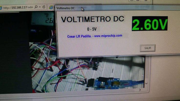 Voltímetro virtual DC realizado con Microcontrolador PIC para PC Windows.