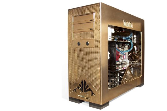 The 24K-gold-plated PC shown at left. Yes, the $21,150 Voodoo Omen PC's precious case stood out when it was unveiled in 2008, but beyond the bling, that water-cooled beast absolutely screamed performance.