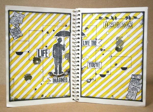 Yellow & Black Journal #artjournal #journalbook #journal #mixmedia
