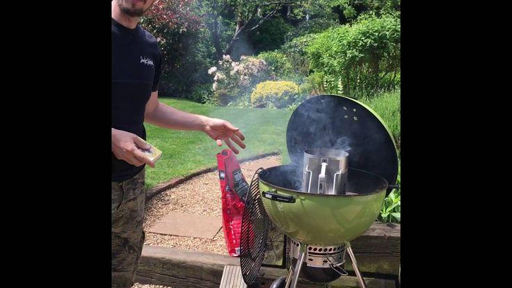 Weber Barbecue. Easiest way to light BBQ. Weber Chimney Starter - YouTube