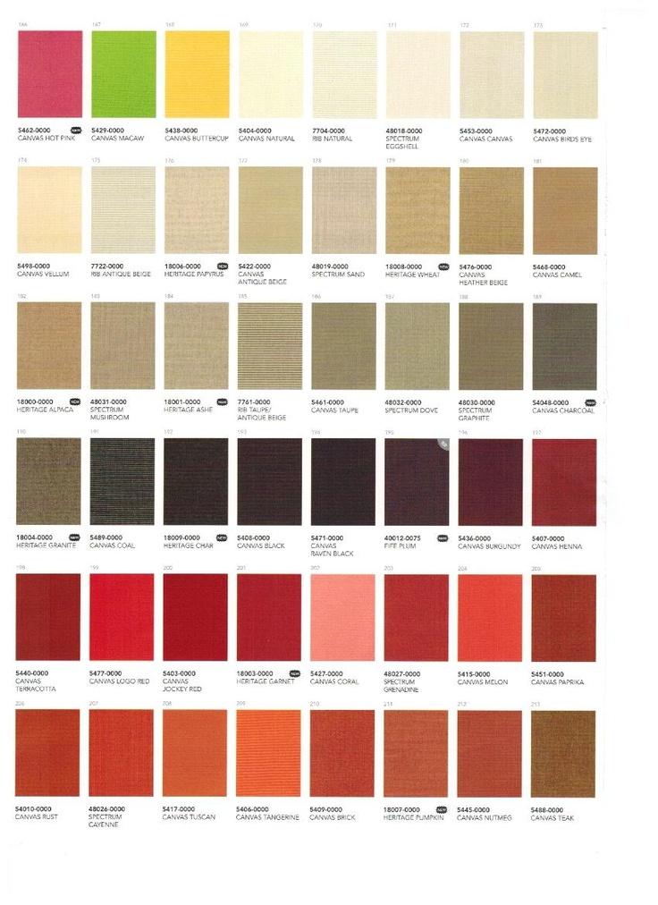 Sunbrella Solids Page 1 2012 2013 Sunbrella Catalog