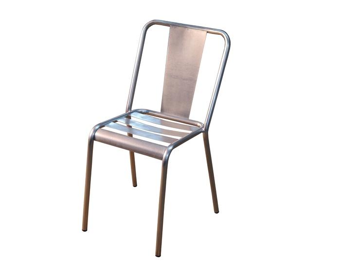 silla de exterior de hierro de estilo vintage en acero