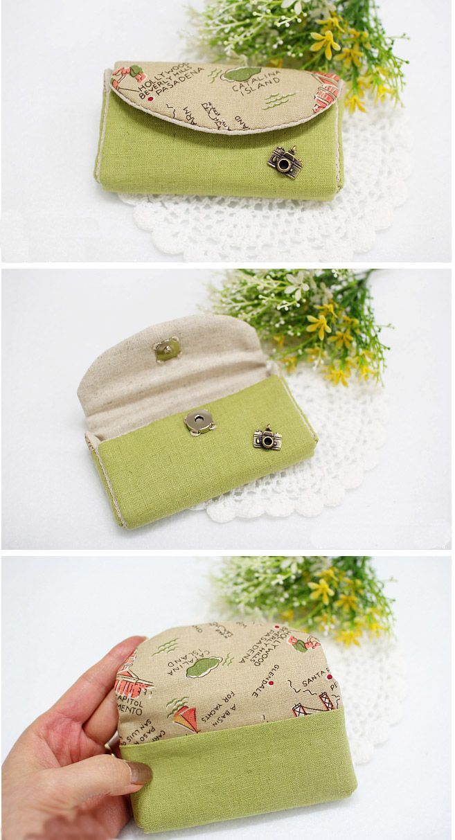 Card Pouch Organizer - Sewing Bag Tutorial DIY in Pictures.