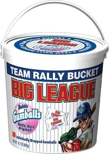 BIG LEAGUE CHEW GUM 80 COUNT TEAM RALLY SEALED BUCKET Wrapped Gumballs #BIGLEAGUECHEWORIGINALCHEW