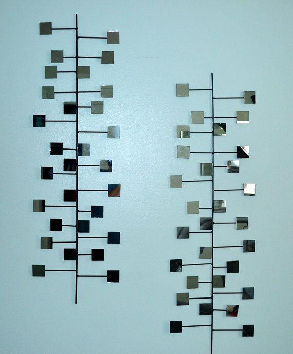 The Miller Retro Modern Mirror Wall Art Steel by inspiring4u2, $110.00