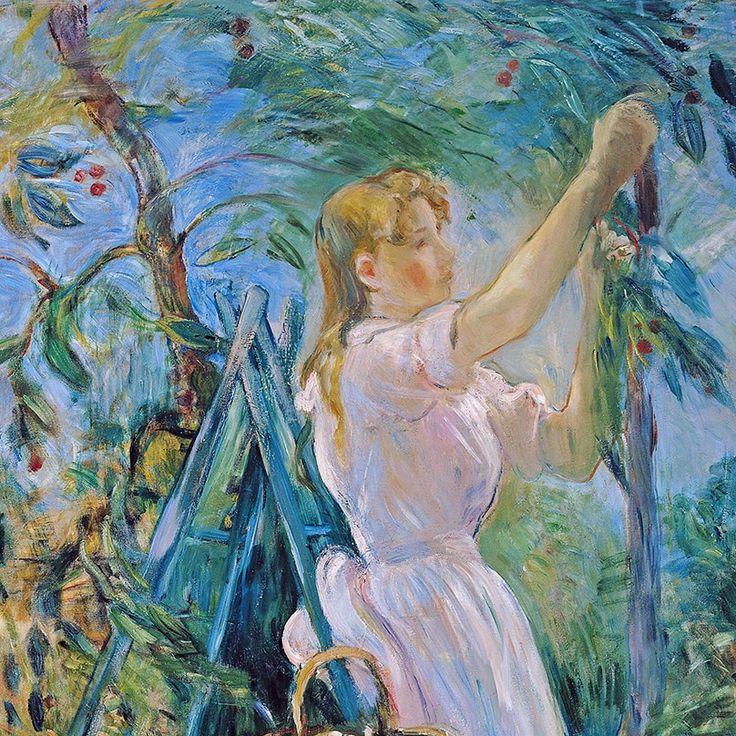 Berthe Morisot - The Cherry Tree (detail)