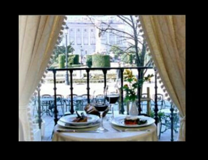Cafe de Oriente, Madrid, Spain  (The best spot to look at the Royal Palace)