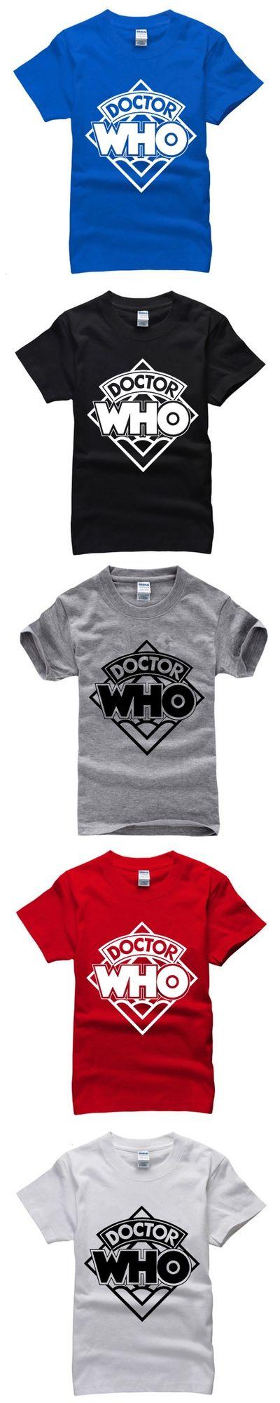 2015 New Design Minions Police Box Doctor Who mens t shirts Fashion Cartoon Anime Short Sleeve Tee Shirts Tops Plus Size