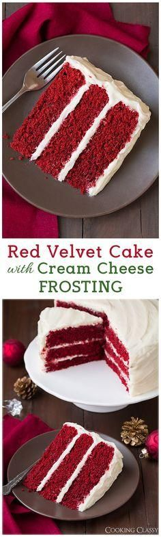 Red Velvet Cake with Cream Cheese Frosting - this cake is DIVINE!!