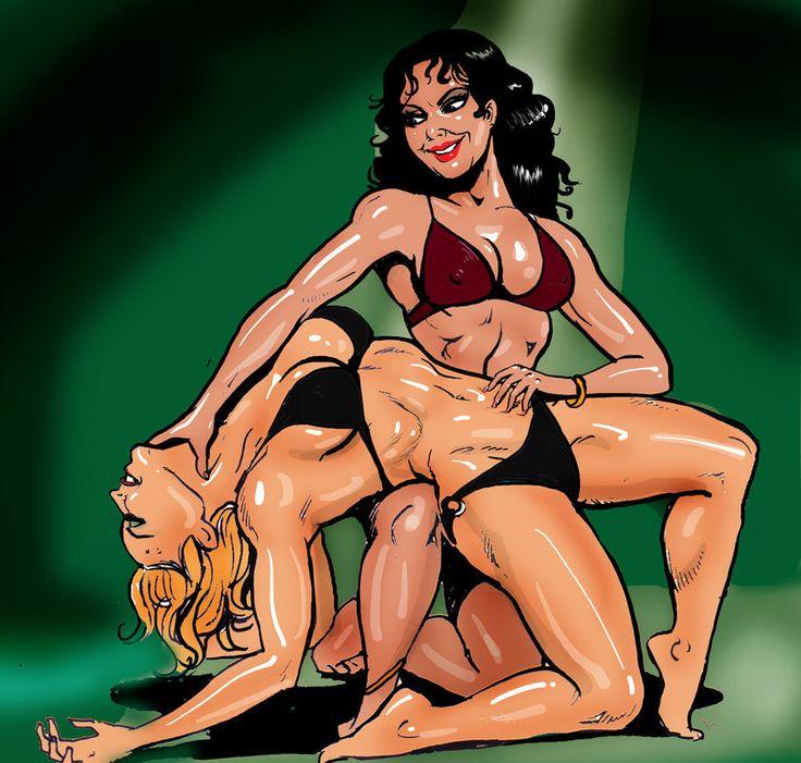 Buceta busty superhero catfight comics girls