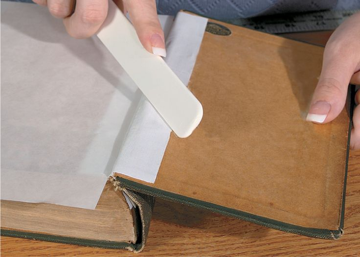 how to fix a rip in a book