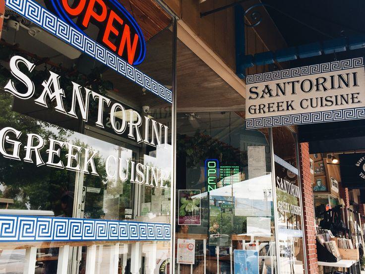 Delicious Greek cuisine at Santorini. DeLand, Florida