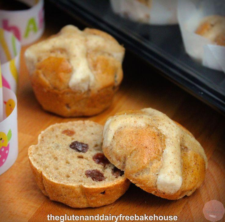 Hot Cross Buns (gluten, dairy & nut free)