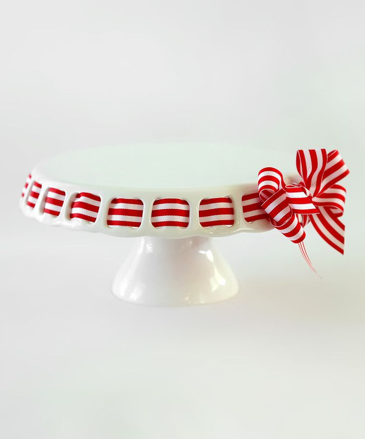 Love this Red Stripe Ribbon Large Cake Plate by Prissy Plates on #zulily! #  sc 1 st  Pinterest & Best 100+ Prissy Plates images on Pinterest | Dish Dishes and Grinding