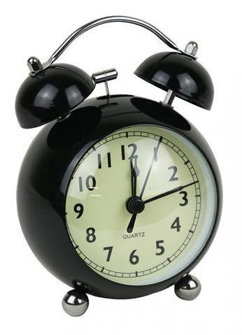 Black Retro Alarm Clock - The Hippie House