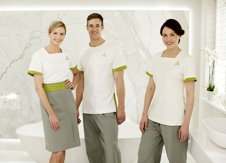 121 best images about uniform on pinterest hotel uniform for Uniform for spa staff
