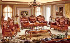 Foto de Madera europea de lujo que talla los muebles de lujo del sofá de la sala de estar (TH528) en es.Made-in-China.com