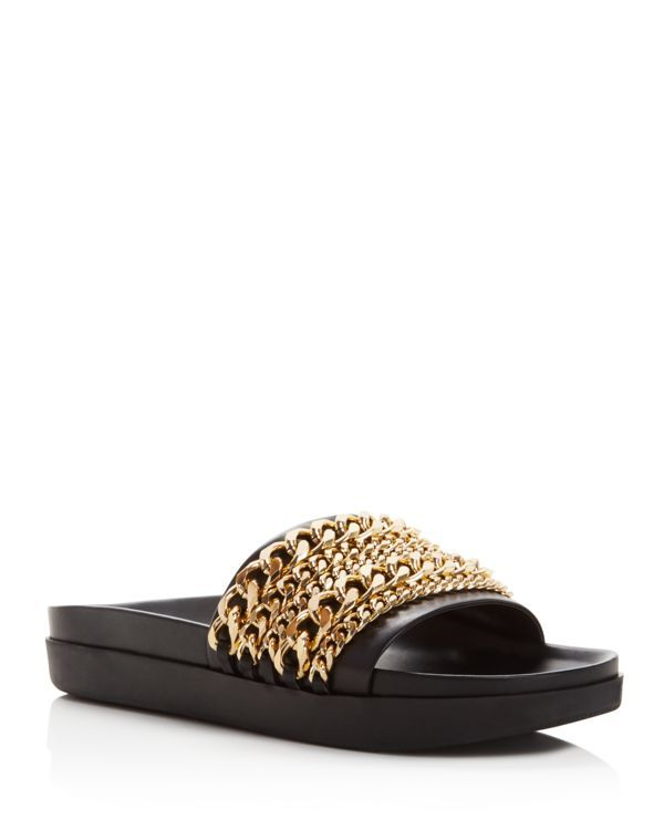 Kendall and Kylie Shiloh Chain Slide Sandals