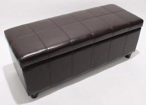Panca-contenitore-Kriens-pelle-rivestita-112x45x45cm-marrone-D