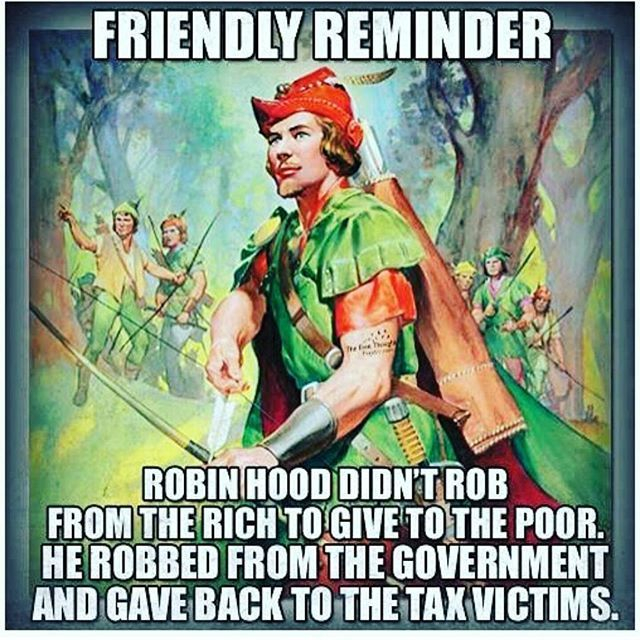 Imagine if we had a Robin Hood for the Fed! Oh wait... we had Ron Paul