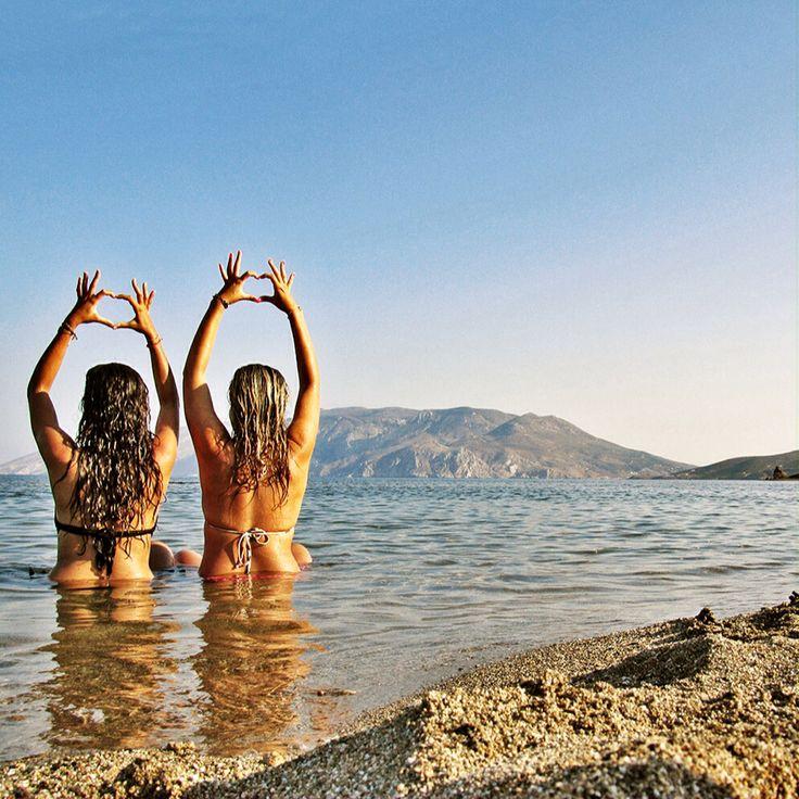 Girls at Skyros island Greece