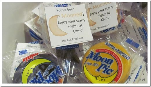 "Girls Camp Prank- ""You've been mooned."""