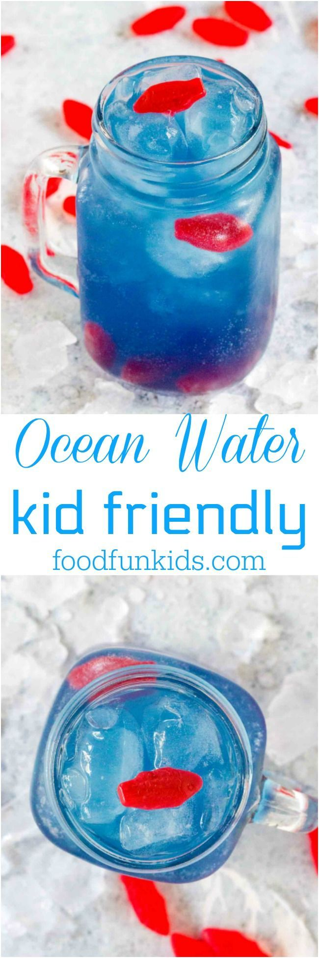 Ocean Water is colorful, sweet, tangy and refreshing. This kid friendly version has been inspired by the famous Sonic Ocean Water. #kids #drink #sonic #copycat