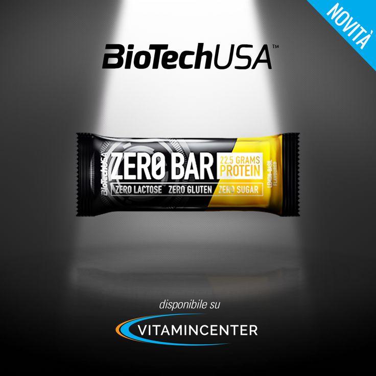 NEW ENTRY | #BiotechUSA #ZeroBar è la nuova gustosa barretta proteica con: =>ZERO ZUCCHERI =>ZERO LATTOSIO =>ZERO GLUTINE => 22,5 gr di proteine Disponibile nei gusti: Cioccolato, Cappuccino, Lampone Cheesecake, Limone-Basilico, Albicocca, Fragola-Banana! Scopri tutte le sue proprietà nutrizionali su #VitaminCenter.it > http://www.vitamincenter.it/zero-bar-singola-1-x-50-g.html