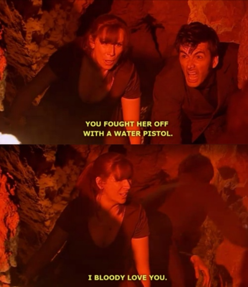 Donna Noble. I love this episode. The plot and villain are a bit tacky, but the Donna/Doctor interaction is truly fantastic.