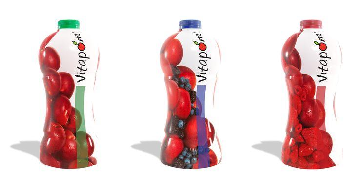 Création d'emballages de jus de pommes Vitapom'