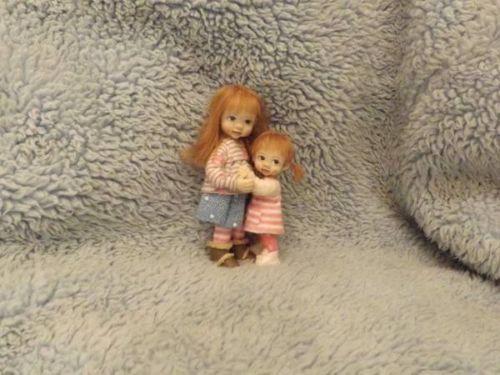 Miniature handmade BABY GIRL CHILD AND SISTER ooak DOLLHOUSE ART DOLL HOUSE | eBay