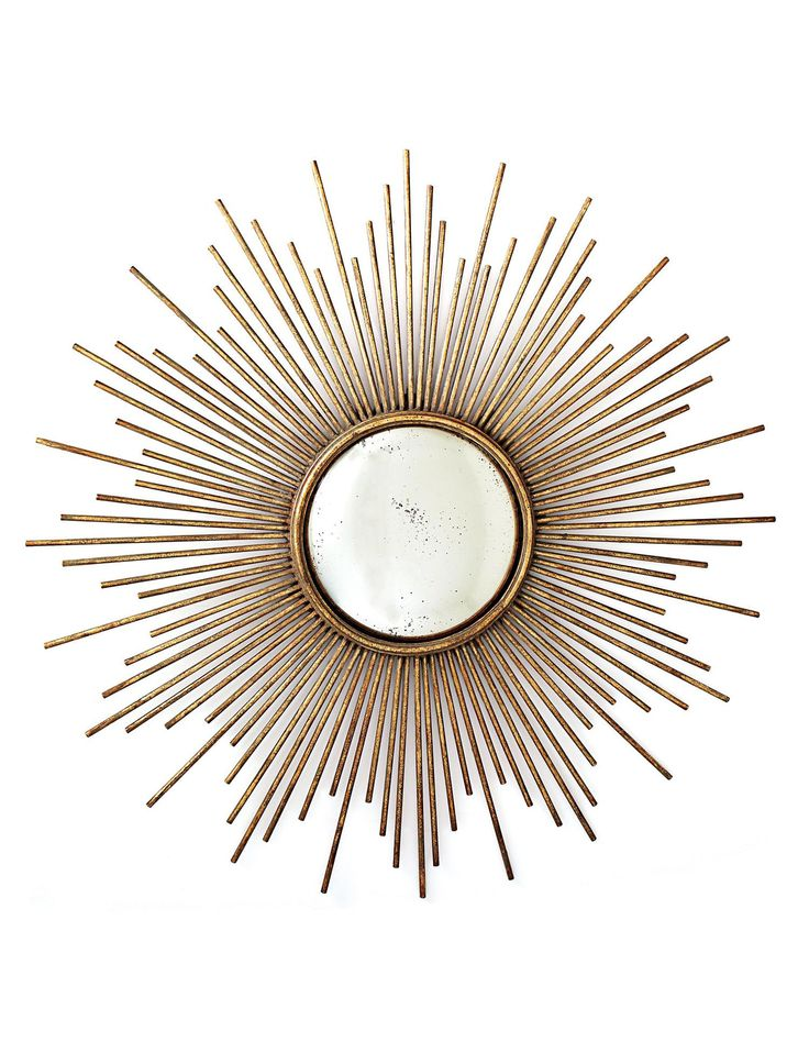 Two's Company Gold Sunburst Mirror