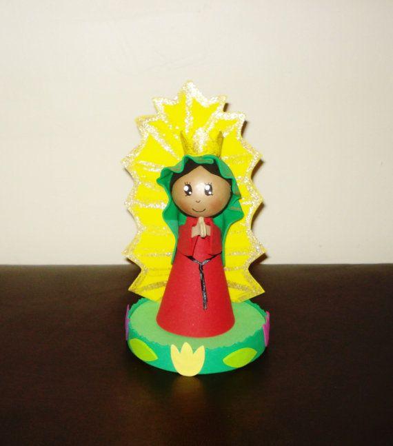 virgencita de guadalupe fofucha. mexican centerpiece. mexican fofucha. foam dolls