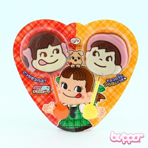 Fujiya Milky Peko Chocolate Lollipop - 2 pcs