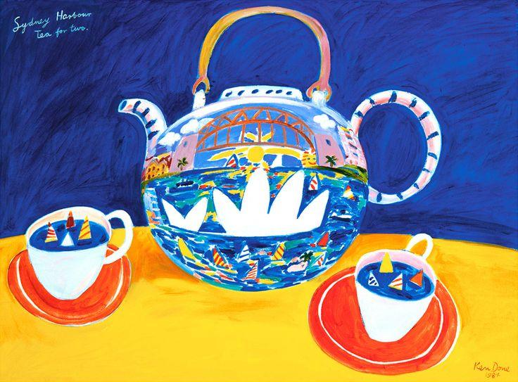 Ken Done - shop / limited prints / sydney-harbour-tea-for-two-1984
