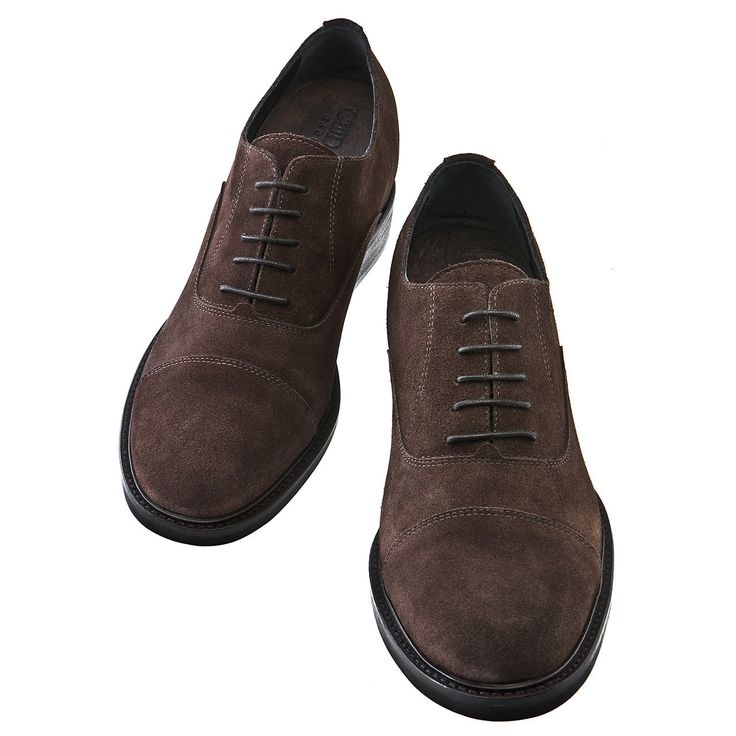 Elevator Dress shoes : Castro (Dark Brown Suede) , in full grain leather and full soft leather lining. Insole and midsole in genuine leather. For more : www.guidomaggi.com/us