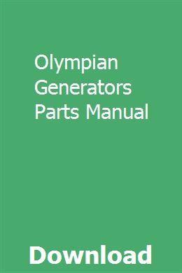 Olympian Generators Parts Manual | abosquined | Generator
