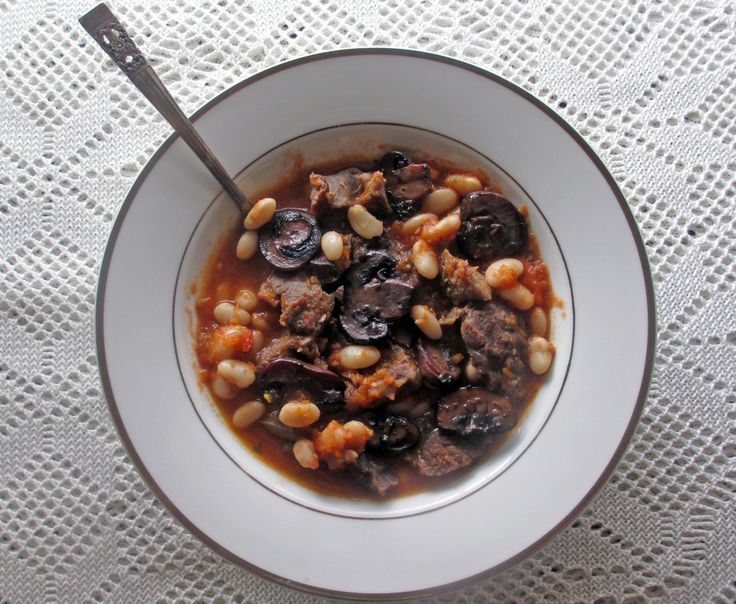 Porcini And White Bean Stew Recipe — Dishmaps