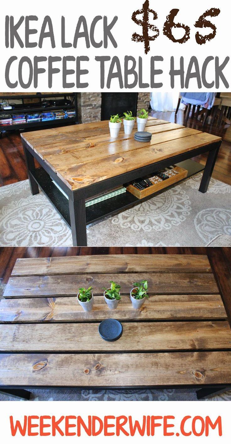 The Weekender Wife: IKEA Coffee Table Hack