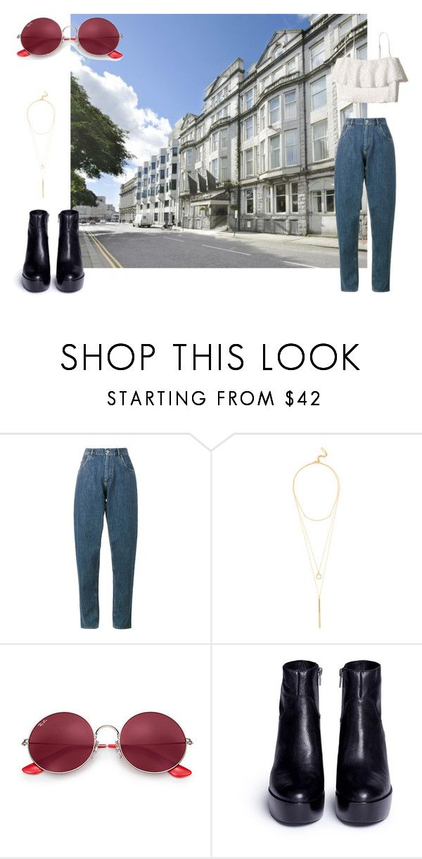"""#8"" by chloe-pickering on Polyvore featuring Miu Miu, BaubleBar, Ray-Ban, Ash and Hollister Co."