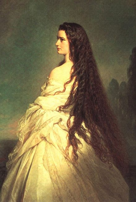 "Empress Elizabeth of Austria ""in deshabille"". These sensual pictures of royal women were usually kept in the private apartments of their husbands."