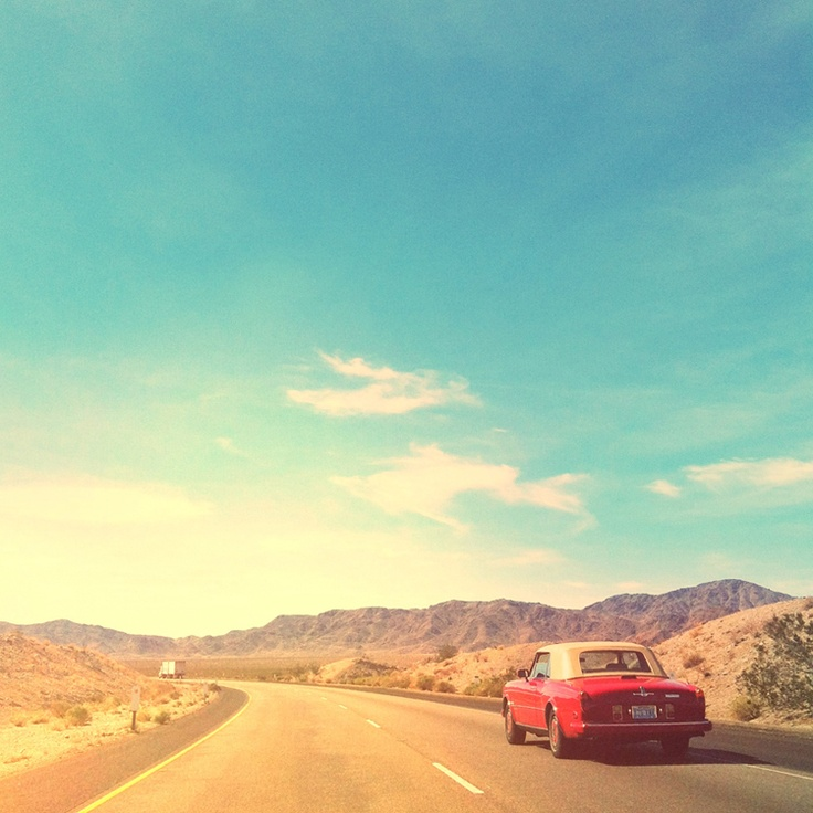Red Convertable / Open Road / via #Vagabondbond & Warm Pears