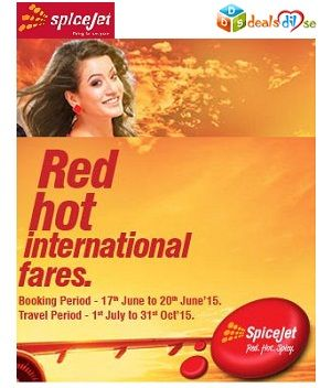 SpiceJet International Air tickets starting @ Rs.3,099/- all-in
