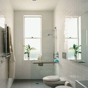 tankless toilet narrow bathroom ideas with window and
