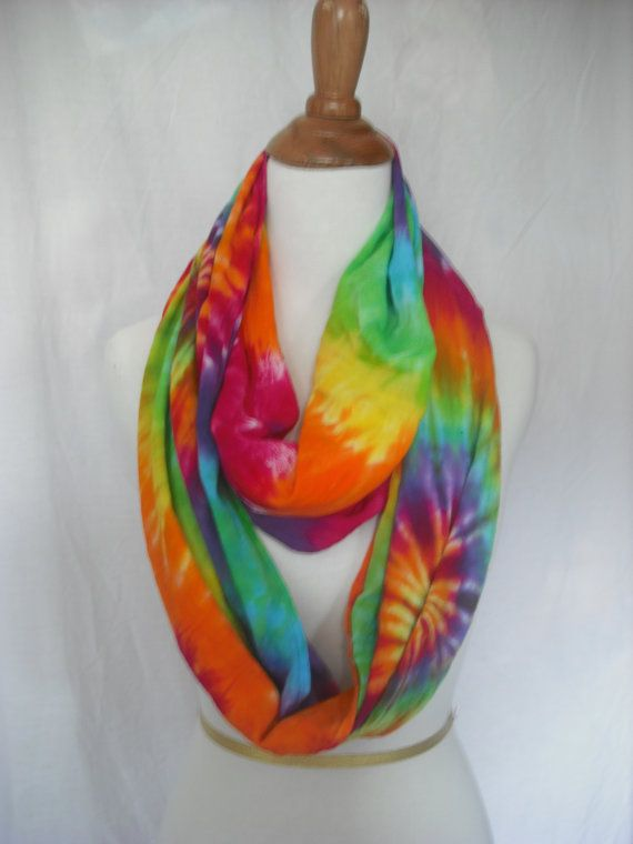 Infinity Circular Tie Dye Scarf/Wrap by DoYouDreamOutLoud on Etsy