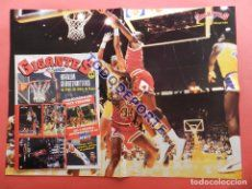 REVISTA GIGANTES DEL BASKET Nº 88 1987 PEGATINAS CROMOS NBA-POSTER GIGANTE MICHAEL AIR JORDAN BULLS