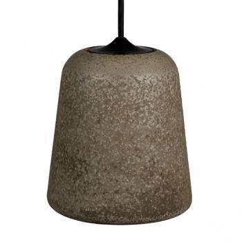 Material valaisin, tumma betoni