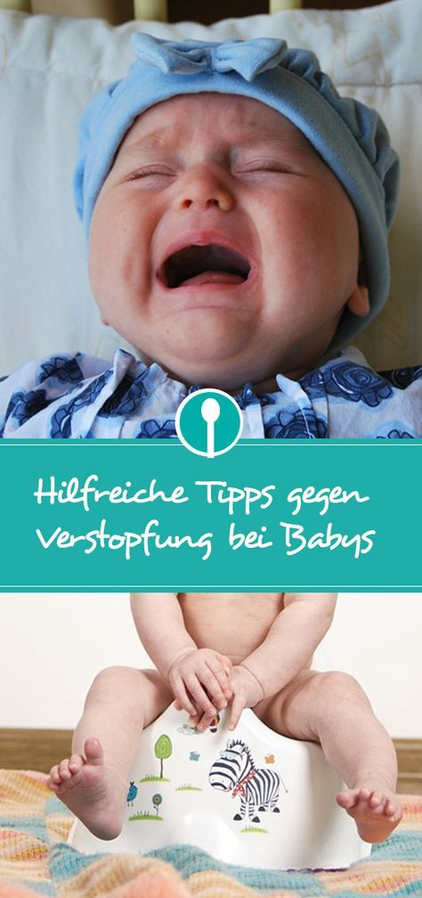 Tipps gegen Verstopfung nach der Beikosteinführung: Babys leiden nach den ersten Breiversuchen oft an Verstopfung.